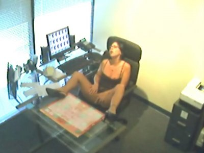 girl masturbating at work