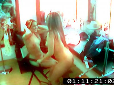 Lesbian strippers spy cam